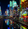 Dotonbori-gawa Canal At Night by Ari Salmela