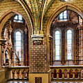 Double Arches In Church by Sharon Popek