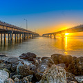 Double Bridge Sunrise - Tampa, Florida by Lance Raab