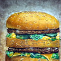 Double Burger To Go by Kayla Bozoti
