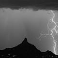 Double Lightning Pinnacle Peak Bw Fine Art Print by James BO  Insogna