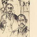 Double Portrait With Skeleton (doppelbildnis Mit Skelett) by Lovis Corinth