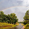 Double Rainbow At Devils Tower by Marion Wear