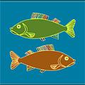 Double Rainbow Fin Fish by Joy McKenzie