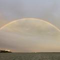 Double Rainbow Over Charleston Harbor by Dustin K Ryan