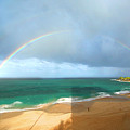 Double Rainbow Over Turtle Beach by Vicki Hone Smith