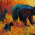 Double Trouble - Black Bear Family by Marion Rose