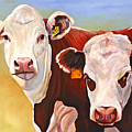 Double Trouble Hereford Cows by Toni Grote