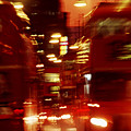 Doubledecker Bus Blur London by Brad Rickerby