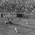 Doubles Tennis At Forest Hills by Underwood Archives