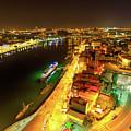 Douro River Skyline Night by Benny Marty
