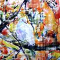 Dove On The Yellow Tree by Jongdee Thongkam