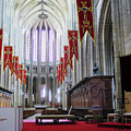 Down The Aisle - Orleans Cathedral by Rick Locke