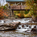 Down The Road To Greenbanks's Hollow Covered Bridge by Jeff Folger