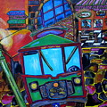 Down Town Trolley by Patti Schermerhorn