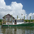 Downeast Style Yacht Docked On Shem Creek In Charleston by Dale Powell