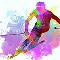 Downhill Skier by Elena Kosvincheva