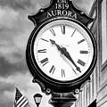 Downtown Aurora Indiana Black And White by Mel Steinhauer
