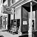Downtown Brookville Indiana Black And White by Mel Steinhauer