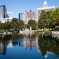 Downtown Charlotte North Carolina From Marshall Park by Bill Cobb