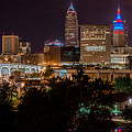 Downtown Cleveland Veteran Memorial Bridge  by Frank  Cramer