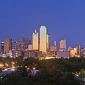 Downtown Dallas Skyline At Dusk by Jeremy Woodhouse