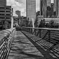 Downtown Entrance - Bw View by James Woody