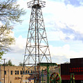 Downtown Gladewater Oil Derrick by Kathy  White
