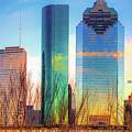 Downtown Houston Texas Skyline  by Gregory Ballos