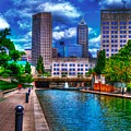 Downtown Indianapolis Canal by David Haskett