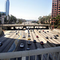 Downtown Los Angeles. 110 Freeway And Wilshire Bl by Sofia Metal Queen