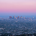 Downtown Los Angeles Skyline At Sunset by Konstantin Sutyagin