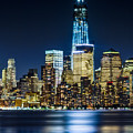Downtown Manhattan From Hoboken by Val Black Russian Tourchin