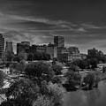 Downtown Memphis Skyline 001 Bw by Lance Vaughn