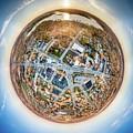 Downtown Mukwonago Little Planet by Randy Scherkenbach