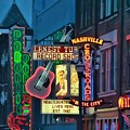 Downtown Nashville At Dusk by Dan Sproul