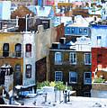 Downtown Nyc Rooftops by Leonardo Ruggieri