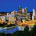 Downtown Pittsburgh At Twilight by Digital Photographic Arts
