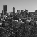 Downtown Pittsburgh In Black And White by Jim Cheney