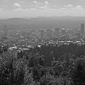 Downtown Portland Black And White by Cityscape Photography