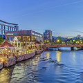 Downtown Reno Along The Truckee River by Scott McGuire