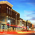 Downtown Rogers Arkansas Skyline At Dusk by Gregory Ballos