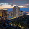 Downtown Salt Lake City At Dusk by James Udall