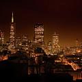 Downtown San Francisco At Night by Grant Groberg