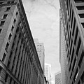 Downtown San Francisco Street View - Black And White 2 by Matt Harang