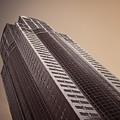 Downtown Seattle Skyscrapers Merlot Tone by Blake Webster