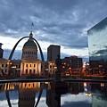 Downtown St. Louis At Dawn by Sven Brogren