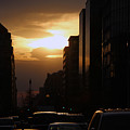 Downtown Sunset From Parking Lot by Cora Wandel