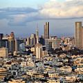 Downtown Tel-aviv Skyline by Eldad Carin
