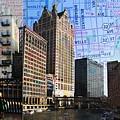 Downtown Trio W Map by Anita Burgermeister